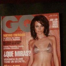 Revistas: GQ Nº 52-VERONICA BLUME-VIVIANA GRECO-SUMMER ALTICE. Lote 263679120