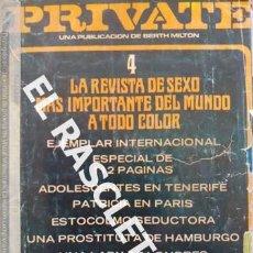 Revistas: ANTIGUA REVISTA PARA ADULTOS - PRIVATE - 4. Lote 234933845