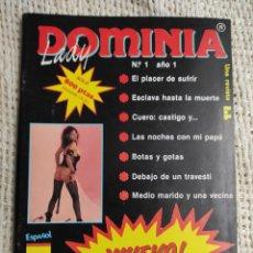 Revistas: LADY DOMINIA Nº 1 , REVISTA EROTICA DE LOS AÑOS 80. Lote 235172755