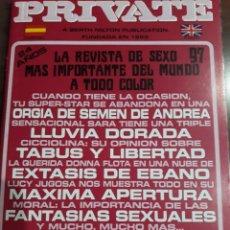 Revistas: REVISTA PRIVATE NÚMERO 97. Lote 236046465