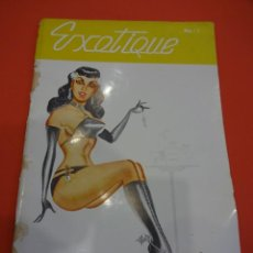 Revistas: EXOTIQUE. EROTISMO. REVISTA ERÓTICA AÑOS 1950S. RARA DE ENCONTRAR. LEVE EROSION EN LOMO. Lote 239255865