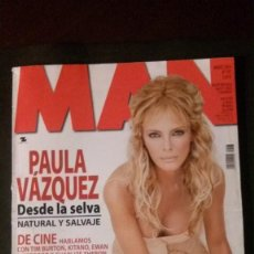 Revistas: MAN 197-PAULA VAZQUEZ-ANASTACIA-SCHUMACHER-TIM BURTON-CHARLIZE THERON-FARRUQUITO-FRAZ FERDINAND. Lote 244560155