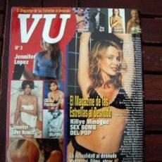 Revistas: REVISTA VU STAR /LAS FAMOSAS DESNUDAS /Nº 3 / MUCHISIMAS DESNUDAS, LEE LA DESCRIPCION, KYLIE MINOGUE. Lote 245625325
