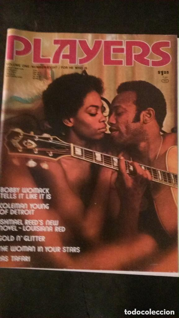 PLAYERS-JANUARY 1975-VOL 1 Nº 8-BLACK PEOPLE-BOBBY WOMACK-RASTAFARI-REGGAE-BLACK CULTURE (Coleccionismo para Adultos - Revistas)