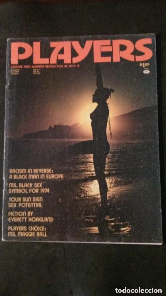 PLAYERS-NOVEMBER 1974-VOL 1 Nº 7-BLACK PEOPLE-LOU SMITH-SYREETA-STEVIE WONDER-BLACK CULTURE (Coleccionismo para Adultos - Revistas)