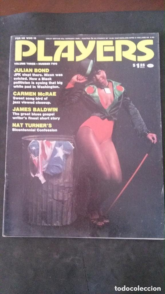 PLAYERS-JULY 1976-VOL 3 Nº 2-CARMEN MCRAE-LINDA AND SONNY SHARROCK-JULIAN BOND-CHARLES TYLER-JAMAICA (Coleccionismo para Adultos - Revistas)