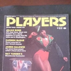 Revistas: PLAYERS-JULY 1976-VOL 3 Nº 2-CARMEN MCRAE-LINDA AND SONNY SHARROCK-JULIAN BOND-CHARLES TYLER-JAMAICA. Lote 245919805