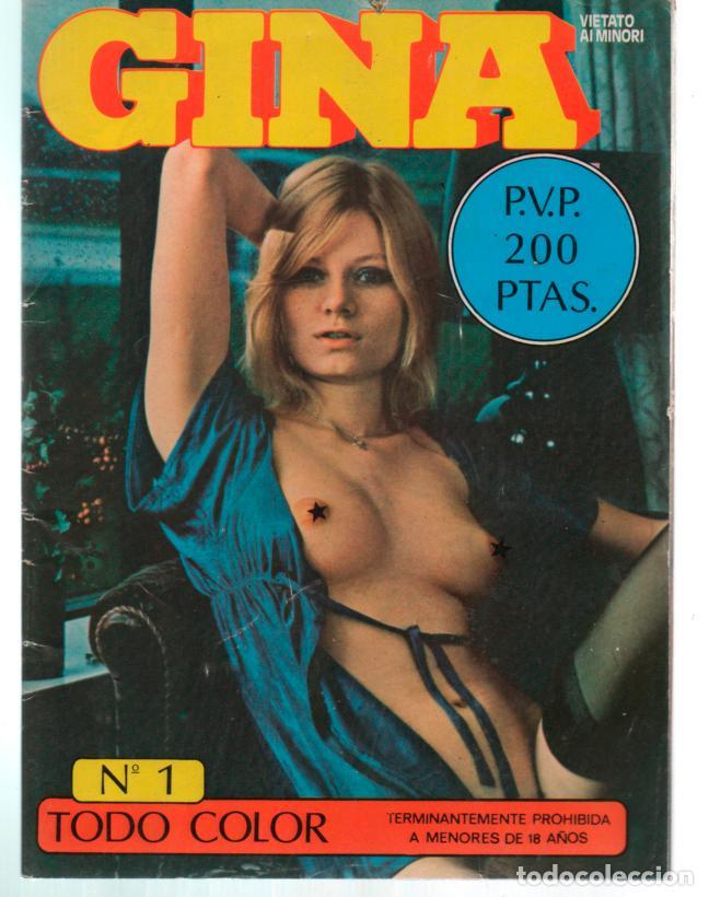 GINA Nº 1 PORN CONTENT MAGAZINE (Coleccionismo para Adultos - Revistas)
