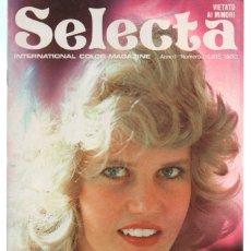 Revistas: SELECTA INTERNATIONAL COLOR MAGAZINE. NUMERO 1 1975. PORN CONTENT. Lote 246239275