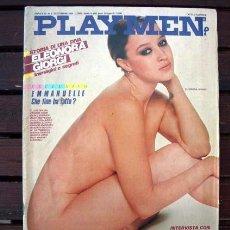 Revistas: REVISTA EROTICA PLAYMEN ITALIA / ELEONORA GIORGI, ISABELLA FERRARI, EMMANUELLE ARSAN, GIANNI VERSACE. Lote 246247415