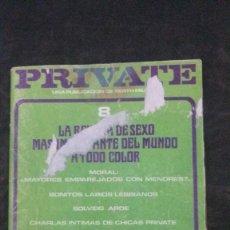 Revistas: PRIVATE # 8-1978-BERTH MILTON. Lote 246510805