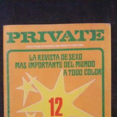 Revistas: PRIVATE # 12-1979-MILTON-NATHALIE MORIN-LAURA CLAIR. Lote 246511095