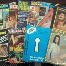 Revistas: LOTE 10 REVISTAS EROTICAS - PORNO AÑOS 70. Lote 246516420
