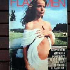 Revistas: REVISTA FLASHMEN Nº 13 / VERUSCHKA, EL YOGA, CHICHO IBAÑEZ SERRADOR, MUSEO EROTICO, SIRENAS. Lote 246524225