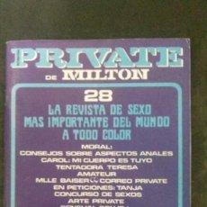 Revistas: PRIVATE # 28-1983-MILTON. Lote 246537400