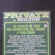 Revistas: PRIVATE # 33-1986-MILTON. Lote 246544230