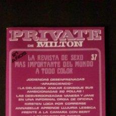 Revistas: PRIVATE # 37-1987-MILTON. Lote 246576775