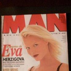Revistas: MAN Nº 110-EVA HERZIGOVA-MISS ESPAÑA-LIZ HURLEY-ENRIQUE MORENTE-FUGEES-MALENA GRACIA-DAVID TRUEBA. Lote 263679380