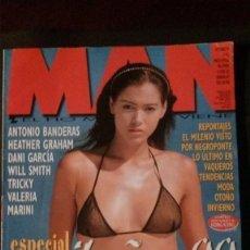 Revistas: MAN Nº 143-ESPECIAL CARIBEÑAS-WILL SMITH-VALERIA MARINI-ANTONIO BANDERAS-HEATHER GRAHAM-TRICKY. Lote 263680025