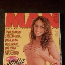 Revistas: MAN 139-SONIA MOLDES-EWAN MCGREGOR-HIPPIS-CHRISTINA RICCI-JOSÉ TOMÁS-LAURYN HILL. Lote 263680220