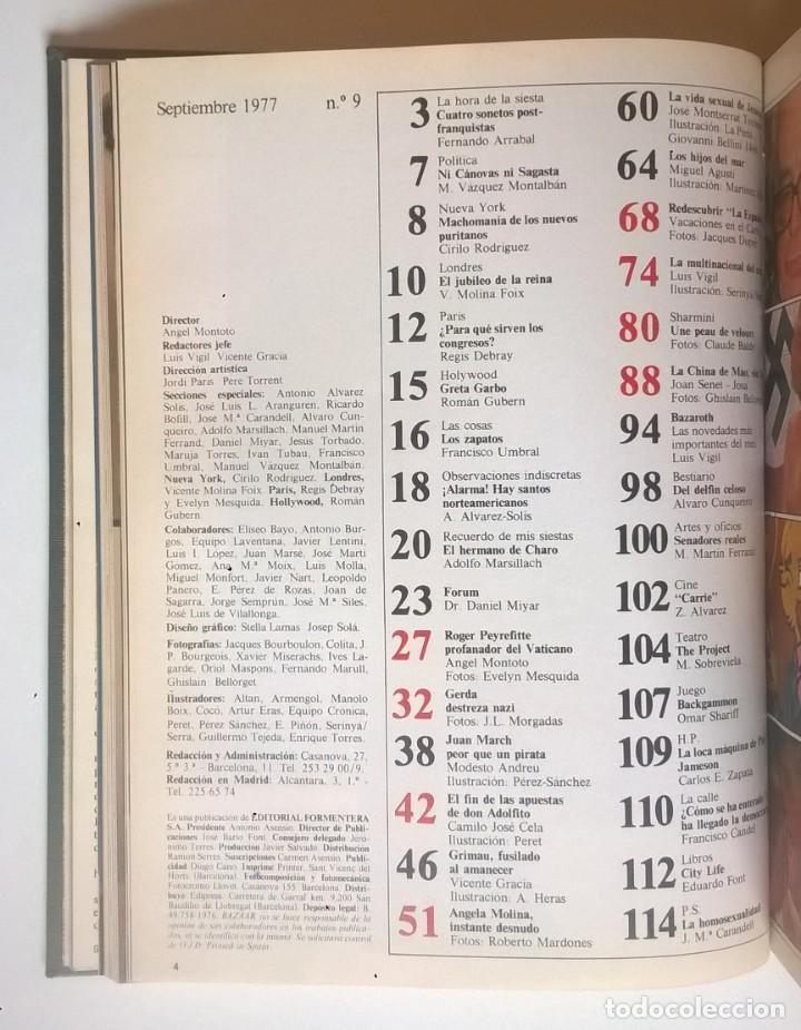 Revistas: REVISTAS BAZAAR ENCUADERNADAS (Nº7 AL 12) - AÑO 1977 - REVISTAS PARA ADULTOS - ANTIGUAS - Foto 19 - 257911970