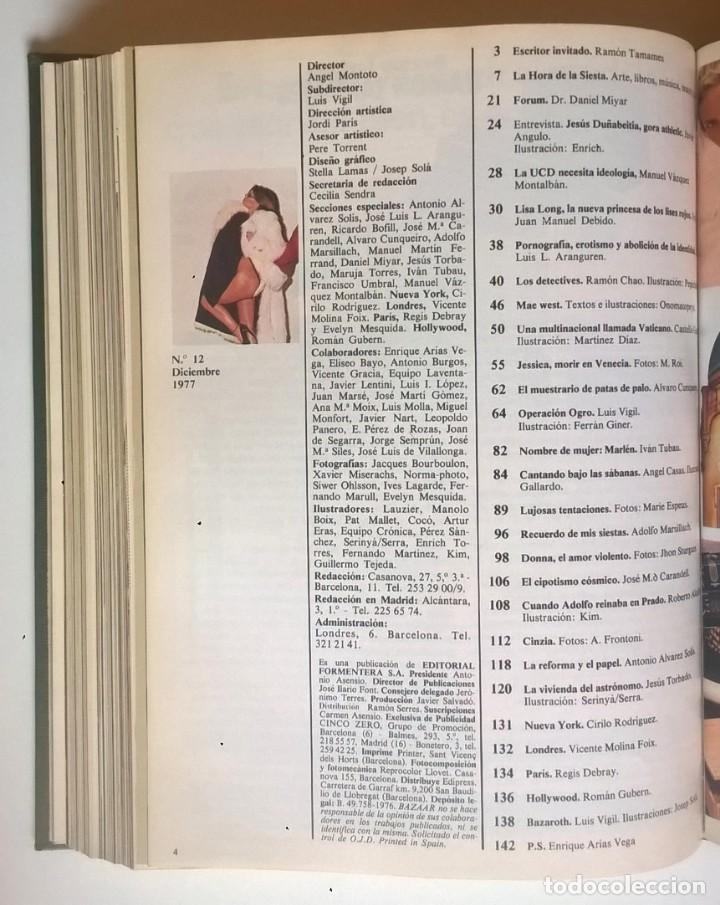 Revistas: REVISTAS BAZAAR ENCUADERNADAS (Nº7 AL 12) - AÑO 1977 - REVISTAS PARA ADULTOS - ANTIGUAS - Foto 26 - 257911970