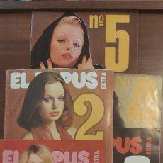 Revistas: LOTE 5 REVISTAS EXTRA DE EL PAPUS LAS 5 PRIMERAS EN MUY BUEN ESTADO LIB ERÓTICA. Lote 258505690