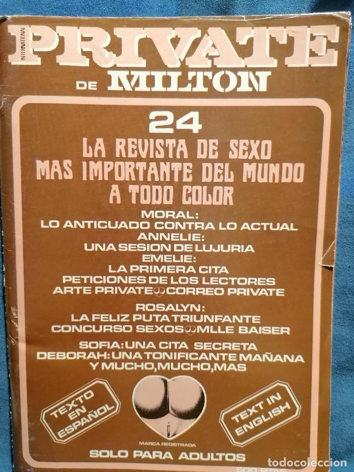 REVISTA PRIVATE Nº 24 PORNO AÑOS 80S (Coleccionismo para Adultos - Revistas)