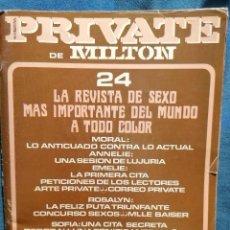 Revistas: REVISTA PRIVATE Nº 24 PORNO AÑOS 80S. Lote 261288825
