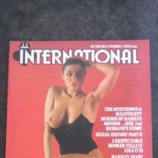 Revistas: CLUB INTERNATIONAL 6/8-1977-AVA CADELL-MARILYN MONROE. Lote 262774330