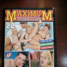 Revistas: MAXIMUM PERVERSUM N° 22. SILWA SPECIAL. PORNO. SÓLO PARA ADULTOS. Lote 263116785