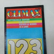 Revistas: CLIMAX COLORE Nº 123. PORNO. ITALIANA. REVISTA SOLO PARA ADULTOS. 1977. Lote 268995734