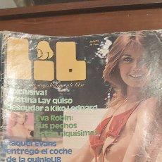 Revistas: REVISTA LIB 140 AÑO 1979. (EROTICA) EVA ROBIN. RAQUEL EVANS. NICKY BRAVO. STEFANIA D´AMARIO.. Lote 270093038
