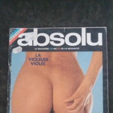 Revistas: ABSOLU # 9-AVRIL 1975.SERGE GAINSBOURG. Lote 270879058