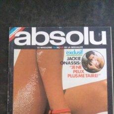 Revistas: ABSOLU # 12-JUILLET 1975- LEBENSBORN NAZIS-NAZISMO-JACQUES CHAZOT-SADE-MICHEL SIMON. Lote 270879883
