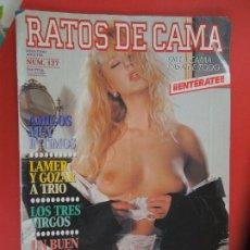 Revistas: RATOS DE CAMA REVISTA PORNO-EROTICA Nº 127 - LAMER Y GOZAR A TRIO. Lote 277143838