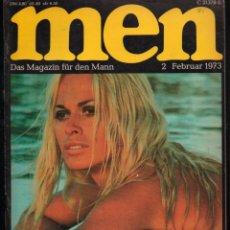 Revistas: MEN 2 FEBRUAR 1973, MANUELA, BERNIE CORNFIELD, HENRY MILLER DAS MAGAZIN FUR DEN MANN. Lote 277159408