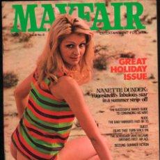 Revistas: MAYFAIR VOL. 8 NO. 8 - NANETTE DUNDEK, STEPHANIE MCLEAN, NICOLE BENSON. Lote 277178168
