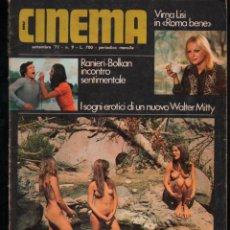 Revistas: NEW CINEMA Nº 9 SETTEMBRE 1971, VIRNA LISI, RANIERI - BOLKAN, WALTER MITTY. Lote 277179453