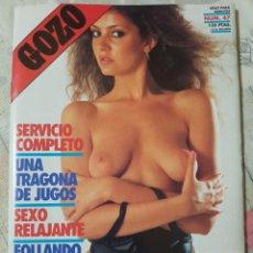 Revistas: GOZO Nº 47 DEL AÑO 1990. CONJUNTA RELATOS Y FOTOGRAFÍAS. REPLETA DE FOTOS. 32 PÁGINAS. Lote 277200203
