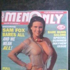 Revistas: MEN ONLY-VOL 58 Nº 7-SAMANTHA SAM FOX. Lote 288952558