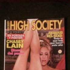Revistas: HIGH SOCIETY 100-CHASEY LAIN-SALMA HAYEK-ROSIE PÉREZ-JENNIFER LÓPEZ-SONIA BRAGA. Lote 289890433