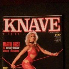Riviste: KNAVE-1985-TRACI LORDS-MARTIN BREST. Lote 293242833