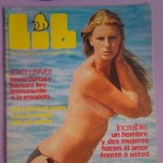 Revistas: LIB, AÑO 2 Nº47, PACA GABALDÓN, ROCÍO DÚRCAL Y BÁRBARA REY, LEONORA FANI , 1977. Lote 294141708