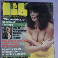 Revistas: LIB Nº152 1979, CARMEN APOLO, URSULA BERG, PAVLOVSKY, MARILYN MONROE, MISS AMÉRICA. Lote 294143283