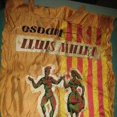 Banderines de colección: BANDERÍN BORDADO ESBART, LLUÍS MILLET, BARCELONA, MIDE 56 X 44 CMS APROX.. Lote 20880038