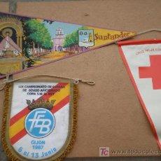 Banderines de colección: LOTE DE 3 BANDERINES RAROS. Lote 26869170