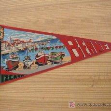 Banderines de colección: BANDERÍN-BERMEO.- VIZCAYA- 27 CM.-SIN FECHA-( POSIBLE. DE LOS AÑOS 60). Lote 20132341