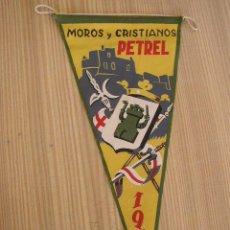 Banderines de colección: BANDERÍN-PETREL, MOROS Y CRISTIANOS.- 1959-27 CM.-. Lote 20153983