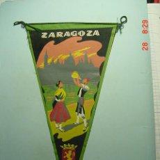 Banderines de colección: 6211 BANDERIN ZARAGOZA AÑOS 1956/66 - MAS DE ESTE TIPO EN MI TIENDA TC. Lote 7972503